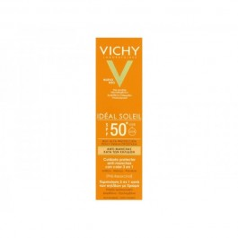 VICHY IDEAL SOLEIL SPF50 CUIDADO ANTIMANCHAS 3 EN 1 COLOR 50 ML