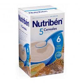 NUTRIBEN CRECIMIENTO 5 CEREALES CON GLUTEN 600 GR