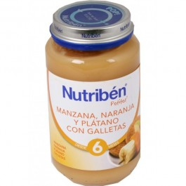 NUTRIBEN JUNIOR NARANJA PLATANO GALLETA 200 GR