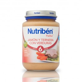 NUTRIBEN JUNIOR JAMON VACA VERDURAS 200 GR