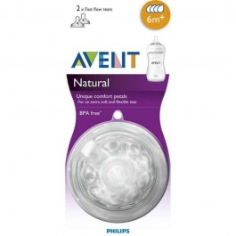 AVENT PHILIPS TETINA NATURAL FLUJO RAPIDO RECIEN  0 M