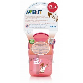 AVENT PHILIPS VASO BOQUILLA 260 ML ROSA